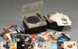 Onkyo/Yamaha stereoanlæg samt pladesamling