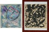 Carl-Henning Pedersen m.fl. litografiske tryk, kompositioner (2)
