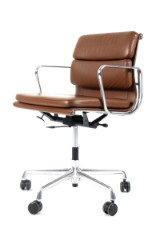 Charles Eames. Soft Pad office chair, model EA-217, leather