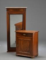 Spejl og konsolskab af mahogni, 1800-tallets slutning (2)
