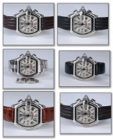 Cartier 'Roadster'. Limited edition men's chronograph, steel - box + certificate 2010
