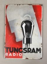 Enamel sign, Tungsram Art Deco