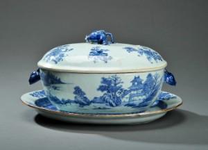 Kinesisk lågterrin med fad Kina Chien Lung 1736-1795 3
