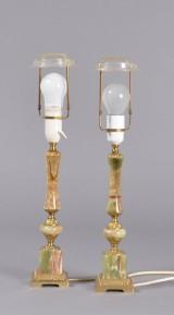 Bordlamper, onyx, 1900-tallets 2. halvdel (2)