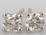 Earrings in 14k with brilliant cut diamonds 0.64 ct