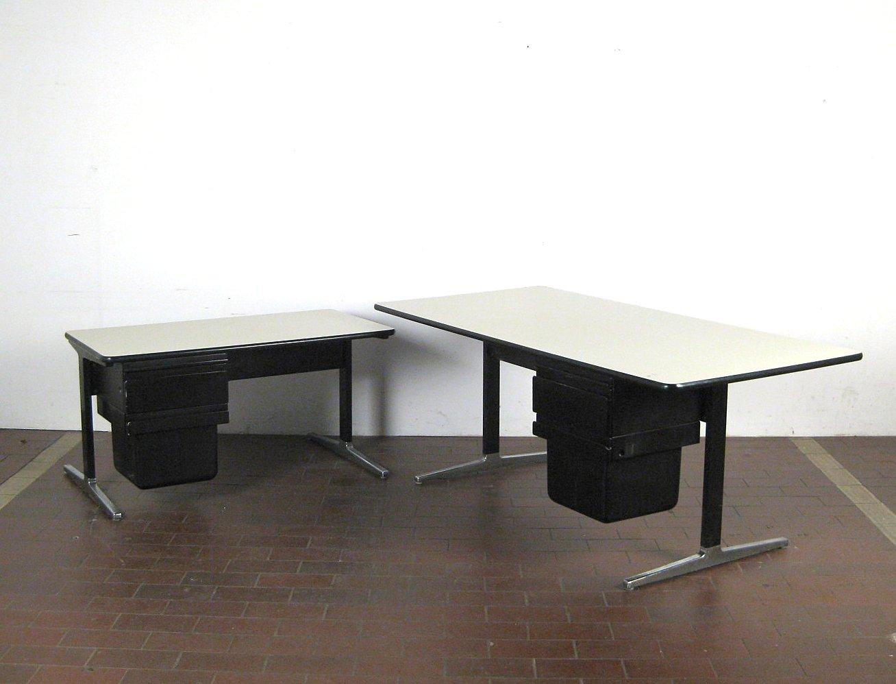 George Nelson, Großer Schreibtisch + Beistelltisch Aus Dem Action Office  System Für Herman Miller (2)
