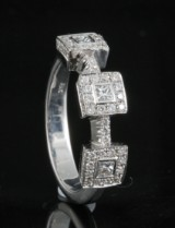 Diamond ring in 18kt approx. 0.70ct