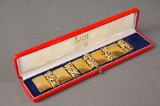 Aage Weimar. Articulated, 14 kt. gold bracelet. 67 g.