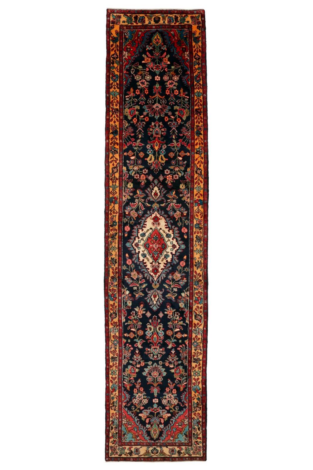 Persisk Kabotar Ahang løber, 430 x 91 cm - Persisk Kabotar Ahang løber, vest Persien. Uld på bomuld. 430 x 91 cm