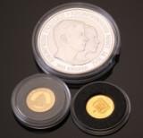 Verdens mindste guldmønter samt 200 krone af sølv (3)
