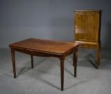 Salonbord m/ hollandsk udtræk og lille skab, 1900-tallet (2)