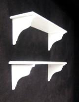 Paar weiße Wandregale (2)