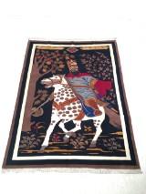 A Shah Persian image carpet, approx.: 193 x 300 cm