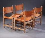 Børge Mogensen. Hunt dining chairs, model 3237 (4)