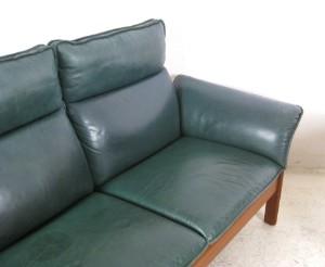 lounge suite dreier sofa sessel in leder von dreipunkt. Black Bedroom Furniture Sets. Home Design Ideas