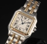 Cartier Panthere unisex watch, 18 kt. gold and steel, with date