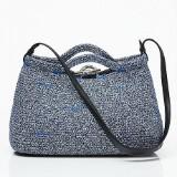 Balenciaga handväska Zigzagger i mörkblått o vitt