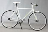 Spalding. Hvid herrecykel. Model 'Zero'