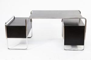 marcel breuer schreibtisch modell s 285 mit stuhl von mart stam modell s 43 2. Black Bedroom Furniture Sets. Home Design Ideas