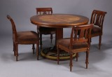 Late Neoclassical furniture suite, mahogany, Denmark, c. 1900 (5)