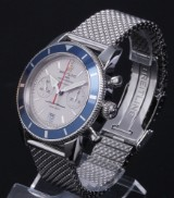 Breitling 'Superocean Heritage'. Men's chronograph, steel with pale dial, c. 2013