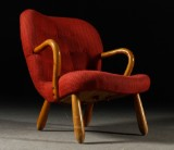 Attributed to Philip Arctander, Clam Chair, 1940s