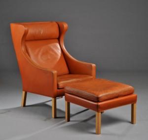børge mogensen lænestol Børge Mogensen. Lænestol med skammel, model 2204 (2) | Lauritz.com børge mogensen lænestol