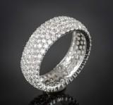 Brilliant-cut diamond ring, approx. 3.85 ct.