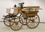 Horse carriage, brown lacquer, 20th century