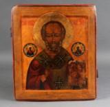 Russisk ikon forestillende Sankt Nikolaus