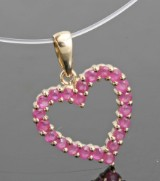 Ruby gold pendant approx. 0.80ct