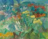 Robert Leepin. En blomstrende have, olie på lærred, cd
