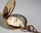 Savonette 585 guld, formentlig Roamer Watch Co. Ltd., Schweiz, med urkæde 585 guld