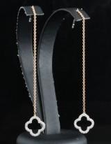 18kt diamond dangle earrings approx. 0.20ct