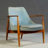 Arm chair / lounge chair / Easy Chair in nut tree, 1950s/1960s