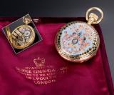 Henri Grandjean & Cie. Victorian double-capsuled ladies pocket watch, 18 kt. gold, c. 1870