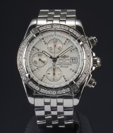 Breitling Chronomat Evolution, men's watch with diamonds