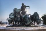 Anders Bundgaard. 'Gefion, der med sine øksne pløjer Sjælland ud af Sverige', skulpturgruppe/springvand af bronze, 1901