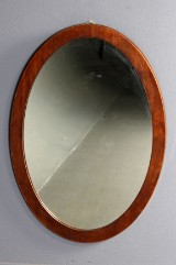 Ovalt spejl af mahogni, 1900-tallet første halvdel