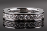 Chopard diamond ring, 18 kt. white gold