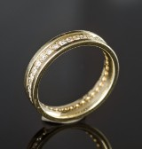Brilliant-cut diamond eternity ring, approx. 0.77 ct.