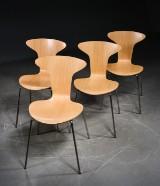 Arne Jacobsen. Munkegaard chairs, oak veneer (4)