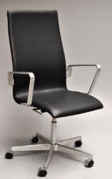 Arne Jacobsen. Armchair with height and tilt function, model 3273 'Oxford - 'Red Label'