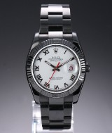 Rolex 'Turn-O-graph' men's watch, PVD/DLC-treated steel, white dial, c. 2005