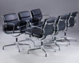 Charles Eames. Set of six Soft Pad lounge chairs, Model EA-208 (6)