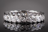 Eternity ring, approx. 2.30 ct. 14 kt. white gold