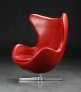 Arne Jacobsen. The Egg, 'Indian Red' Elegance leahter