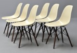 Charles Eames. A set of six shell chairs, model DSW (6)