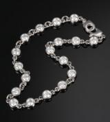 Colpo & Zilio diamond bracelet, 14 kt. white gold, total approx. 4.00 ct