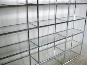 Regalsysteme Chrom großes regalsystem in chrom und glas vitra lauritz com